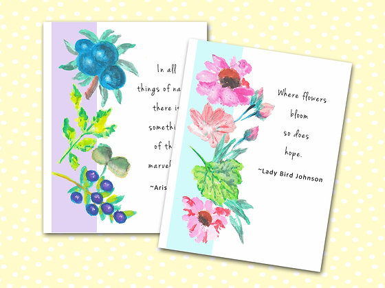 Floral Quotes Pocket Notebooks