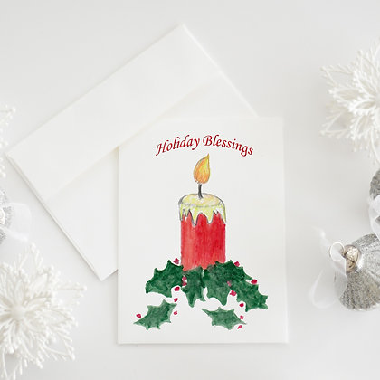 Blessings Candle Card