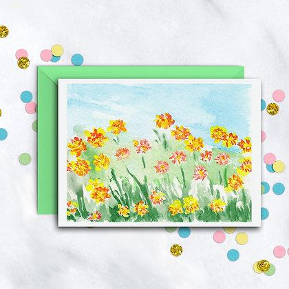 Field Of Flowers Notecard