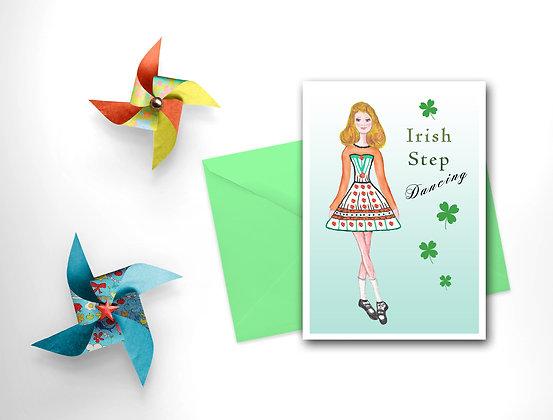 Irish Step Dancer Card