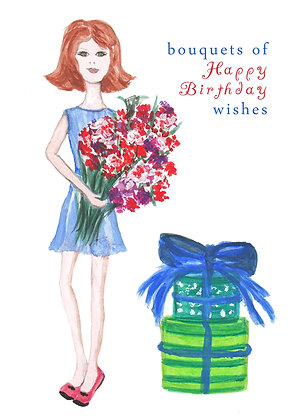 Bouquets of Wishes Card