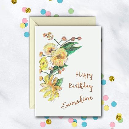 Birthday Sunshine Card