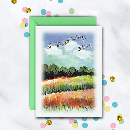 A Birthday Wish Card