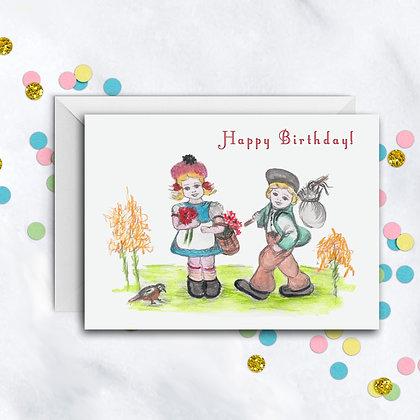 Boy and Girl Birthday Card