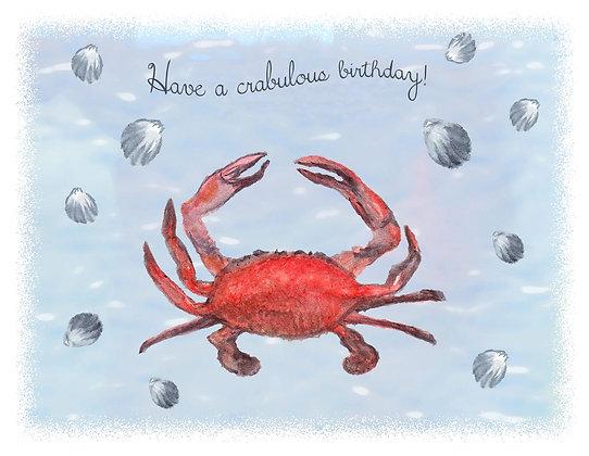 Crabulous Birthday Card