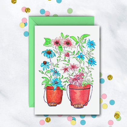 Twin Pots Notecard