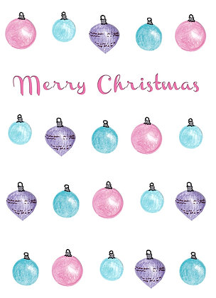 Christmas Ornaments Card