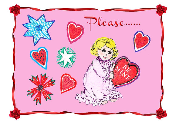 Please Be Mine Card