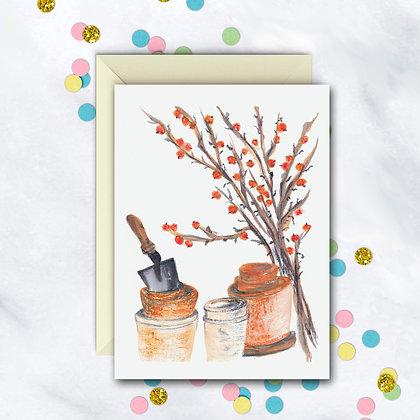 Clay Pots Notecard