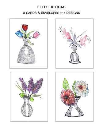 Petite Blooms Note Set
