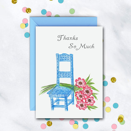 Cozy Chair TY Notecard