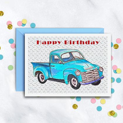 Birthday Truck Card