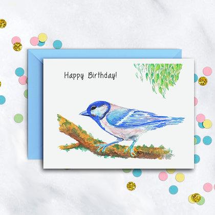 Birthday Blue Bird Card