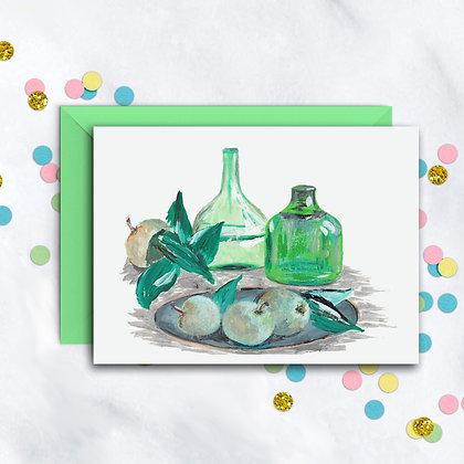 Green Delight Notecard