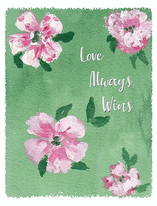 Love Always Wins Notecard