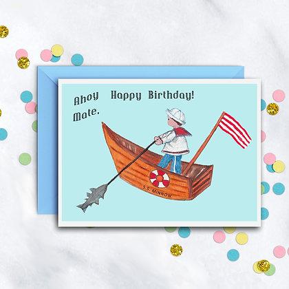 Boy Sailor Card