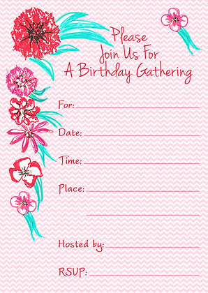 A Birthday Gathering Invitation