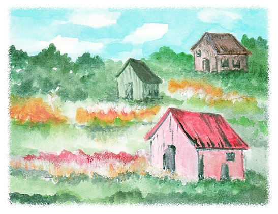 Country Scene Notecard