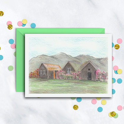 Houses in the Hills Card