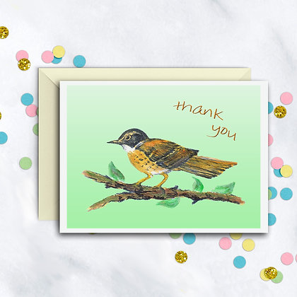 Gold Finch TY Notecard