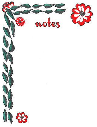 Bold Red Flowers Notepad