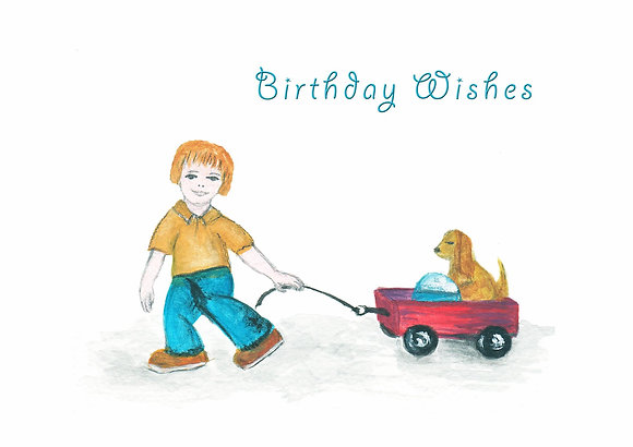 Birthday Wagon Card