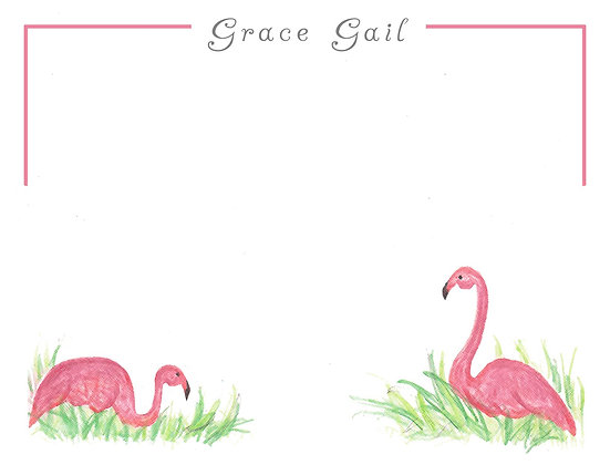 Fancy Flamingos Flat Note