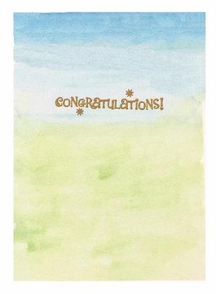 Seafoam Congrats Card
