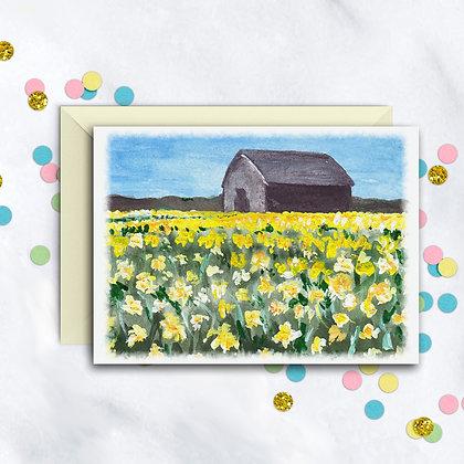 Country Barn Notecard