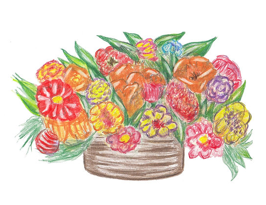 Colorful Blooms Notecard