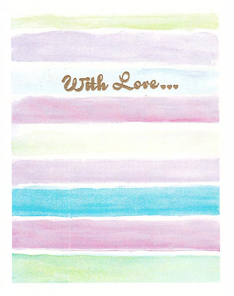 With Love Stripes Card