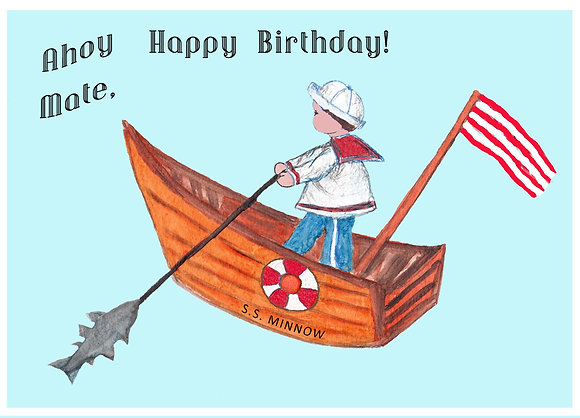Boy Sailor Card