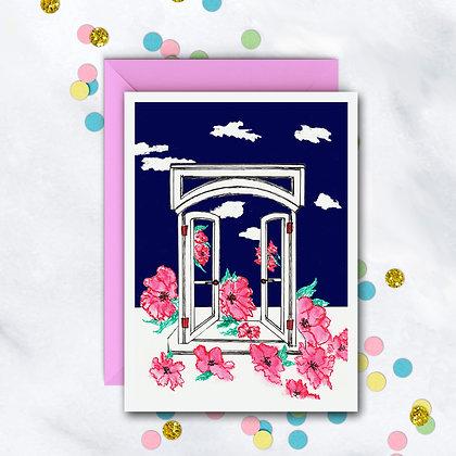 Fantasy Window Card