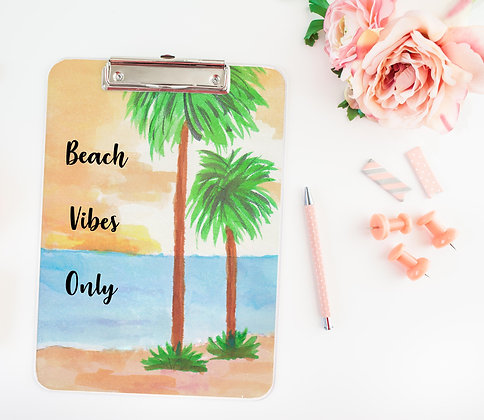 Beach Vibes Only Clipboard