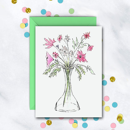 Whimsical Floral Card