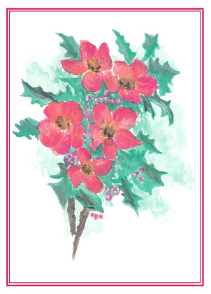 Holly Branches Card