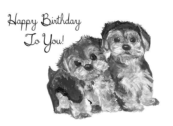 Cute Puppies Card