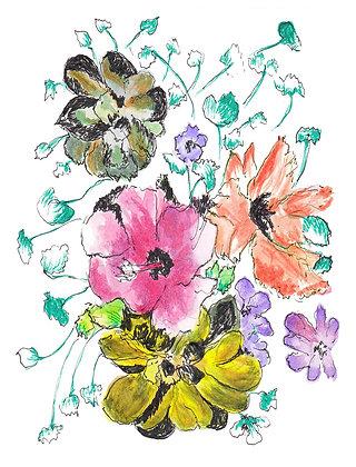 Floral Design Notecard