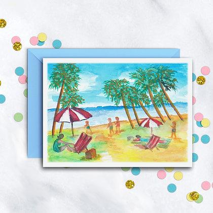 Beach Fun Card