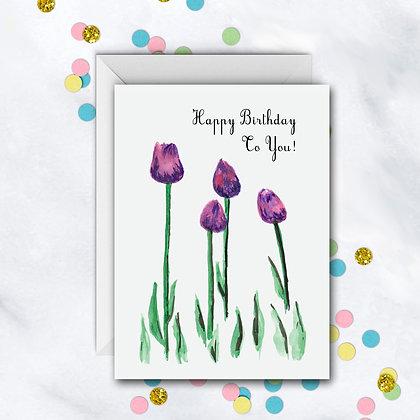 Birthday Tulips Card