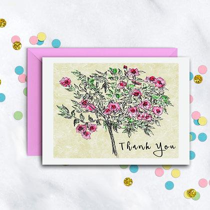 Rose Bouquet TY Notecard