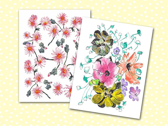 Floral Pocket Notebooks