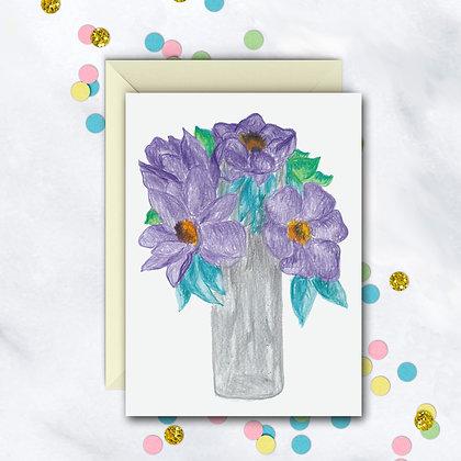Lavender Bouquet Notecard