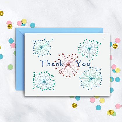 Star Burst Design TY Notecard