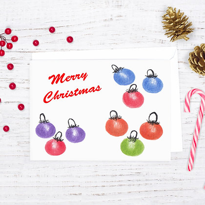 Christmas Ornaments Card