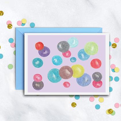Floating Spheres Notecard
