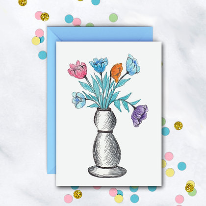 Colorful Bouquet Notecard