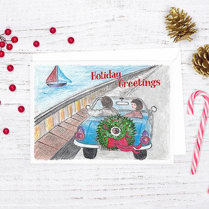 Coastal Holiday Card