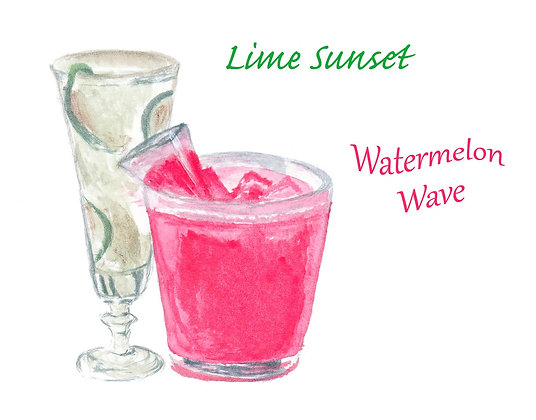 Refreshing Cocktails Notecard