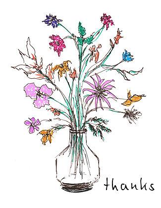 Flowers In Vase TY Notecard